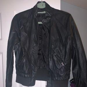 Black Leather Jackey